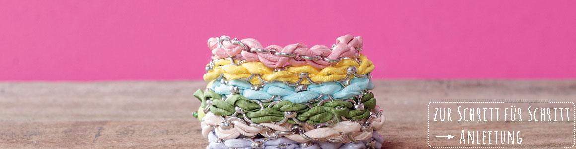 Geflochtene Seidenarmbänder