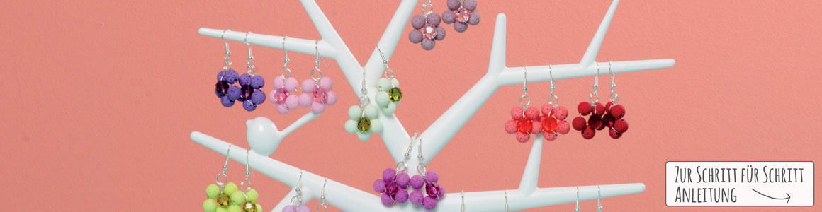Süße Blumenohrringe mit Polaris gala sweet