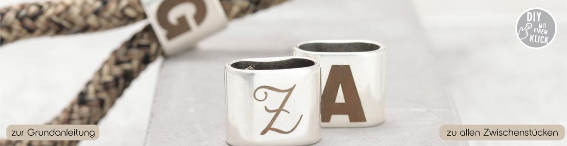 Buchstaben Zwischenstücke für Segelseil