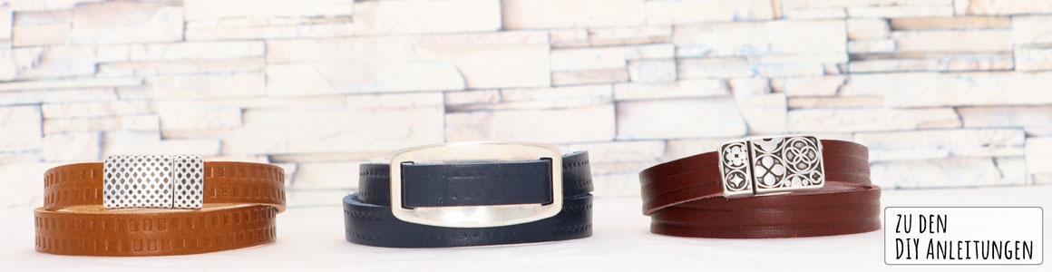 Geprägtes Lederband 10 und 15 mm