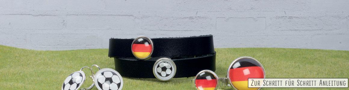 Schwarz-Rot-Golden Fußballschmuck