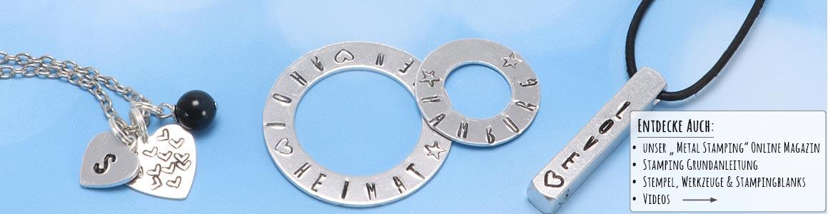 Metal Stamping Schmuck mit Schlagstempeln von ImpressArt
