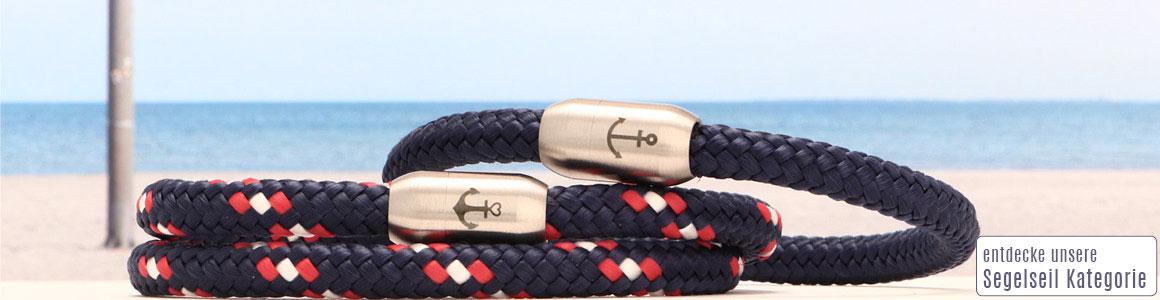 Meer erleben! Segeltauarmbänder mit 6 mm Seil
