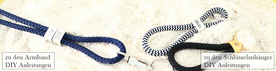 Zwischenstücke & Endkappen m. Gravur für 5 mm Seil