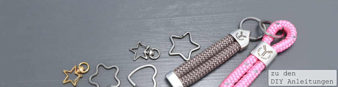 Neue Endkappen für 10 mm Segelseil und Schlüsselringe
